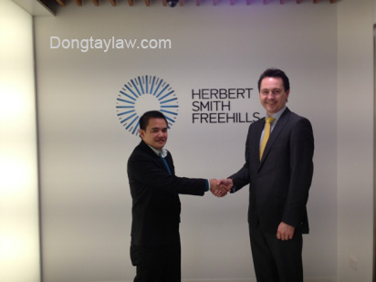 Lawyer Khuong & senior lawyers in Herbert Smith Freehills law firm